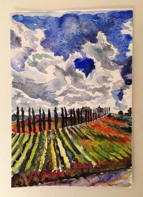 Vlada Roscchina; Umbria, 2016, Original Painting Oil, 15 x 21 cm.