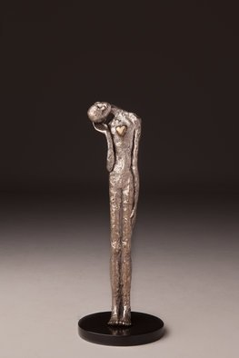 Avril Ward; Listen to your heart, 2014, Original Sculpture Bronze, 6 x 19 inches. Artwork description: 241         Limited edition bronze         ...