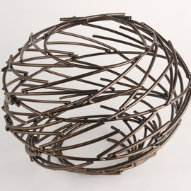Andrea Waxman Mulcahy, , , Original Sculpture Steel, size_width{Bronze_Ring_Nebula-1278094979.jpg} X 16 inches