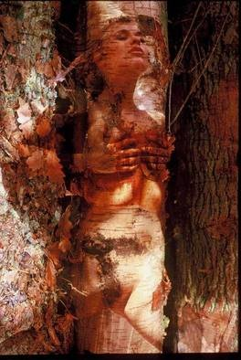 Alessandro Zanazzo; DAPHNEE The Metamorphosis, 2007, Original Photography Color, 30 x 40 cm. Artwork description: 241  The Mythological Legend of Daphne transformed into a tree , from the Poem The Metamorphosis of Ovidio, latin writer 43 b. C. dead 17 a. C. This image has been published on the Art magazine Accrochage, Switzerland for the International fair of Art at Montreaux...