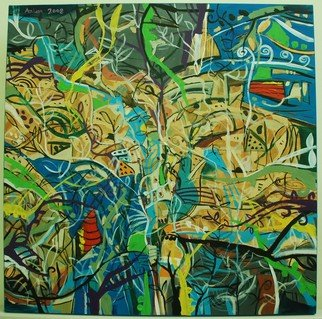 Azlan Adam, Virgin Jungle series 1 , 2008, Original Painting Acrylic,    inches