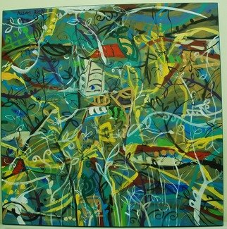 Azlan Adam, Virgin Jungle series 3, 2008, Original Painting Acrylic,    inches