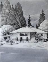 Artist: Gabriella Morrison's, title: Guenther House, 2005, Drawing Pencil
