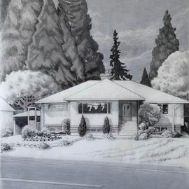 Artist: Gabriella Morrison, title: Guenther House, 2005, Original Drawing Pencil