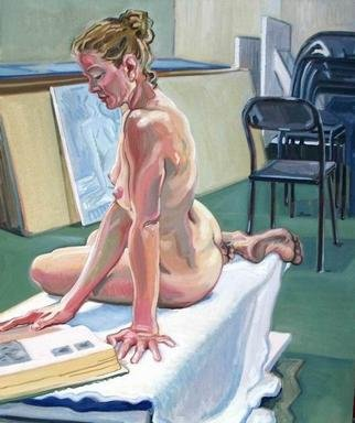 Gabriella Morrison, Monica Reading in the Studi..., 2002, Original Painting Oil, size_width{Monica_Reading_in_the_Studio-1126022037.jpg} X 40 x  inches