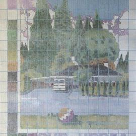 Artist: Gabriella Morrison, title: Suburbia a Pattern, 2005, Original Painting Other