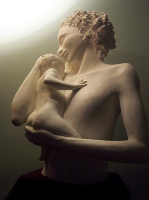 Barry Baldwin; Mother And Child, 2010, Original Sculpture Other,   inches. Artwork description: 241  Maquette for marble  ...