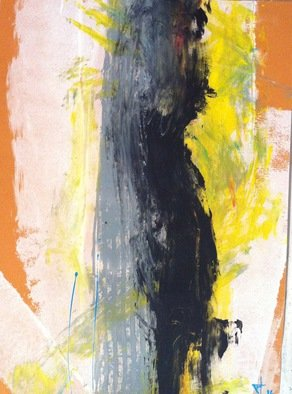 Balint Tisch; BLACK SATURA VIII, 2016, Original Painting Acrylic, 26.7 x 19 inches. Artwork description: 241      contemporary, hungarian, abstract, expressionist, noise,      ...