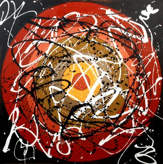 Baljit Chadha; Eternal Circle, 2006, Original Mixed Media, 48 x 48 inches. Artwork description: 241         life revolves  in cirle. free flow of emotions with colors   ...