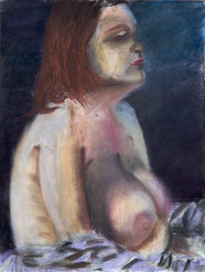 Chad A. Carino; Figure With Weight, 2009, Original Pastel, 11 x 14 inches.