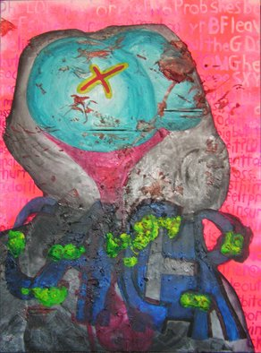 Chad A. Carino; Radio Waves, 2008, Original Mixed Media, 30 x 40 inches. Artwork description: 241  Invisible. Deadly. ...
