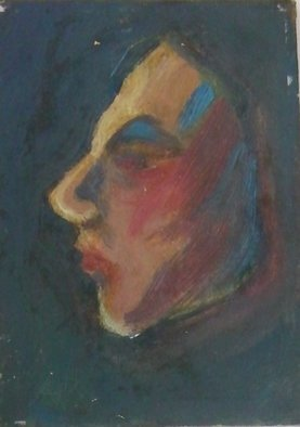 Susan Baquie; In Profile, 2012, Original Painting Oil, 3 x 5 inches.