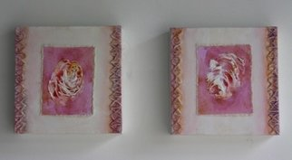 Susan Baquie; A Rose Is A Rose, 2010, Original Mixed Media, 20 x 20 cm. Artwork description: 241 These small paintings of roses are acrylic paint, string, pvc and fillers on canvas on 2 stretchers, each 20 x 20 cms. ...