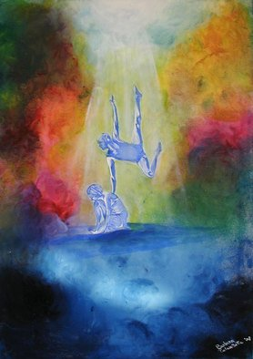 Barbara Calascibetta Di S. Nicol� E Calascibetta; Sacrifice and Elevation, 2009, Original Painting Oil, 50 x 70 cm.