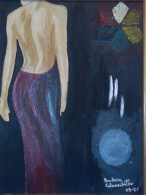 Barbara Calascibetta Di S. Nicol� E Calascibetta; Woman, 2005, Original Painting Oil, 35 x 50 cm.