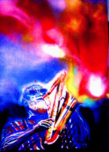 Artist: Barry Boobis', title: Sonny Rollins painting artw..., 2012, Painting Acrylic