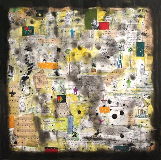 Bolog-Bleich Oana; The Journal, 2008, Original Mixed Media, 50 x 50 cm. Artwork description: 241  This painting represents a journal to my childhood times ...