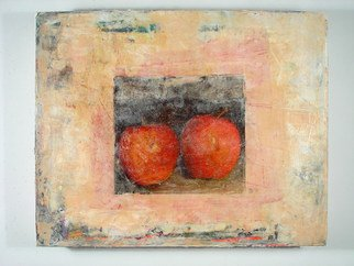 Boban Dosic; Red Apples, 2008, Original Painting Encaustic, 20 x 16 inches.