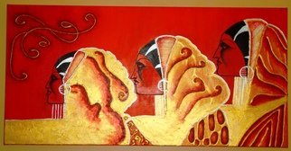 Beatriz Rosell; INDIA, 2010, Original Painting Acrylic, 140 x 70 cm. Artwork description: 241           Mixed media on canvas          ...