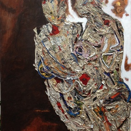 Becky Soria, , , Original Mixed Media, size_width{Amber_and_Pearl_-1511559606.jpg} X 60 inches