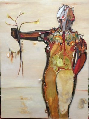 Becky Soria, Artemis of the Wildlands, 2015, Original Mixed Media, size_width{Artemis_of_the_Wildlands-1450563872.jpg} X 48 x  inches