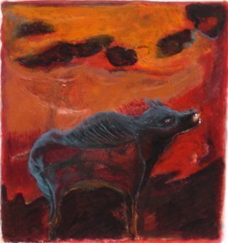 Becky Soria, 'Boar', 2011, original Painting Acrylic, 19 x 22  x 2 inches. Artwork description: 2703             from the series Primitive