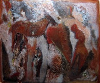 Becky Soria, 'Cave', 2010, original Painting Acrylic, 22 x 31  x 24 inches. Artwork description: 2703                     from the series Primitive