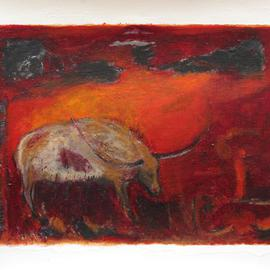 Becky Soria, , , Original Painting Other, size_width{Cuernos_Horns-1470155575.jpg} X 36 inches