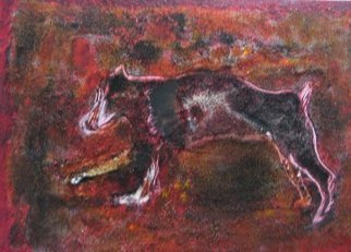 Becky Soria, 'Hound', 2010, original Painting Acrylic, 18 x 22  x 24 inches. Artwork description: 2703                      from the series Primitive