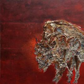 Becky Soria, , , Original Painting Other, size_width{Toro_Bull-1401479378.jpg} X 36 inches