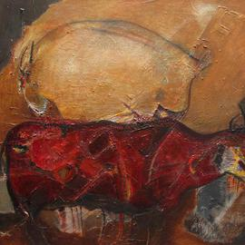 Becky Soria, , , Original Painting Other, size_width{_Roca_y_Rojo_Rock_and_Red-1401479358.jpg} X 48 inches