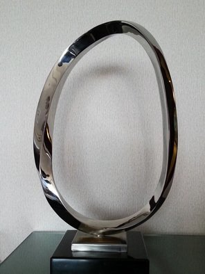 Wenqin Chen; Endless Curve No2, 2010, Original Sculpture Steel, 38 x 67 cm. Artwork description: 241 stainless steel sculpture, monumental sculpture, varied commissions available, up scale available, corporate sculpture, public sculpture. ...
