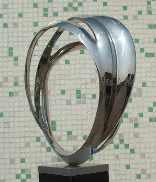Wenqin Chen; Eternal Curve No2, 2011, Original Sculpture Steel, 80 x 105 cm. Artwork description: 241 stainless steel sculpture, monumental sculpture, commissions available. ...