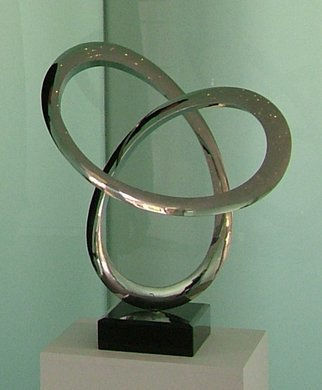 Wenqin Chen; Infinity Curve No1, 2006, Original Sculpture Steel, 42 x 55 cm. Artwork description: 241 stainless steel sculpture, monumental sculpture, varied commissions available, up scale available, corporate sculpture, public sculpture. ...