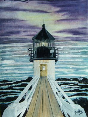 Isabella Mccartney; Marshall Point Light, 2010, Original Painting Acrylic, 12 x 16 inches. Artwork description: 241  Lighthouse ...