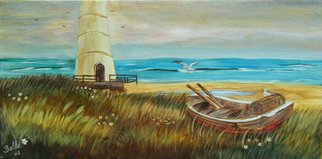 Isabella Mccartney; The Passage Maker, 2008, Original Painting Acrylic, 16 x 10 inches. Artwork description: 241    Sailboat, Lighthouse    ...