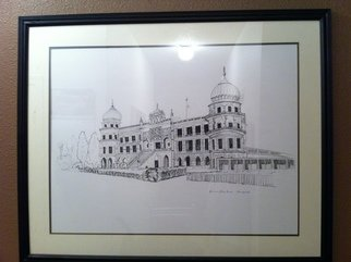 Benny Singh; Sikh Temple Gurudwara Sac..., 2008, Original Illustration, 37 x 28 inches. Artwork description: 241  This is an original drawing from artist LS Sher. Its size is 39'' x 28'' . Item is in great condition for it has been encased in a frame since day of the completion of the drawing. The drawing was done in pencil and encompassed with black ink. ...