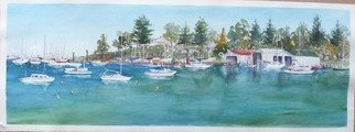 Bernice Wright; Peppermint Grove, 2011, Original Watercolor, 72 x 26 cm. Artwork description: 241  This lovely Bay is close to where I live, just out of Perth in Western Australia and is a place where I have painted quite a few times and never tire of the lovely tranquil area.  A great place for a picnic. ...