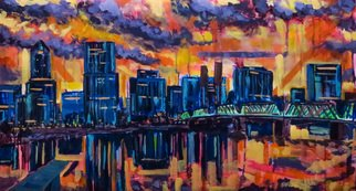 Ben Lingren; Portland, 2015, Original Painting Acrylic, 22 x 42 inches. Artwork description: 241    22x42 Acrylic on Watercolor Paper   ...