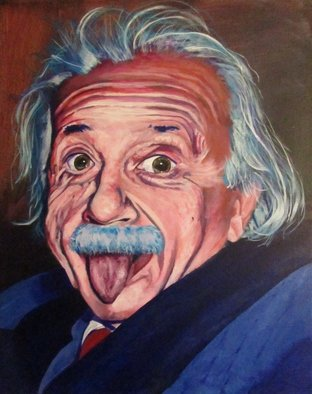 Ben Lingren; Silly Einstein, 2014, Original Painting Acrylic, 16 x 20 inches. Artwork description: 241  16x20 Acrylic on Canvas ...