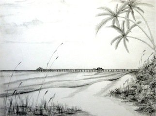 Ron Berry; Pier Rendering from 16th Ave, 2013, Original Drawing Pencil, 20 x 16 inches.