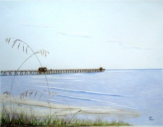 Ron Berry; Pier and Seagrass 4b, 2013, Original Drawing Pencil, 30 x 24 inches.