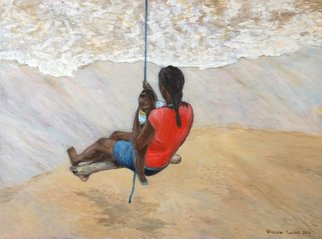 Vaughn Tucker; Swinging With Mom, 2012, Original Painting Oil, 48 x 36 inches. Artwork description: 241     Figure , lying  down, oil paint, detail art, fine art, 20 x 20, size  , land scape   ...