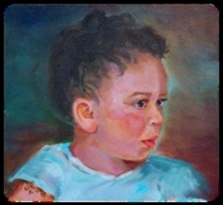 Beverly Dudley; Caleb  Little Boy Blue, 2016, Original Painting Oil, 12 x 9 inches. Artwork description: 241  Caleb R. DudleyEighteen months he is already interested in anything musical.I am sure we will literally hear more from Caleb as he matures into a musically talented young man. ...