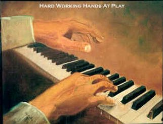 Beverly Dudley; Hard Working Hands At Play, 2016, Original Painting Oil, 20 x 30 inches. Artwork description: 241 i>> ? He works hard in the field all day. In the evening after supper, he plays the piano keys as if hewere in a concert hall. ...