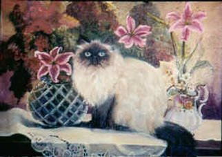 Beverly Dudley; PurrrFection, 2016, Original Painting Oil, 18 x 24 inches. Artwork description: 241 Hes Himalayan, lives in a Plum Cottage next to the Mississippi River, accross the bridge from Baton Rouge in Port Allen, LA. ...