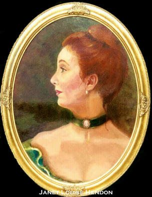 Beverly Dudley; Redhead, 2016, Original Painting Oil, 18 x 24 inches. Artwork description: 241 i>> ? Exquisite red hair, crowns her face and the deep emerald green velvet dress, accentuates herfemininity. What a wonderful model this young woman made. Her husband was very well pleasedwith the portrait...