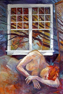 Beverly Furman; Dream Window, 2008, Original Painting Acrylic, 24 x 36 inches.