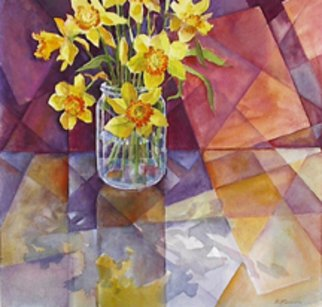 Beverly Furman; Spring Reflections, 2000, Original Printmaking Giclee - Open Edition, 12 x 12 inches. Artwork description: 241  A different view of an old subject. . . with cubistic 'planes.' ...