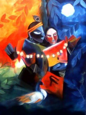 Bhakti Narayan; Krishna With Love, 2015, Original Painting Acrylic, 3 x  feet. Artwork description: 241  the painting name is mirror ...